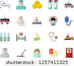 color flat icon set medical... | Shutterstock .eps vector #1257411325