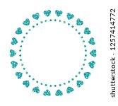 heart frame. cute turquoise... | Shutterstock .eps vector #1257414772