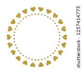 heart frame. cute golden... | Shutterstock .eps vector #1257414775