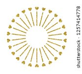 heart frame. cute golden... | Shutterstock .eps vector #1257414778