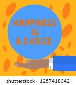 writing note showing happiness... | Shutterstock . vector #1257418342