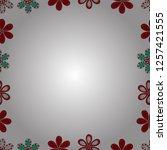 border design is pattern in... | Shutterstock .eps vector #1257421555