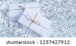 several small boxes with gifts... | Shutterstock . vector #1257427912