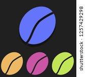 coffee bean icon in multi color....