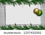 wooden board with photo and...   Shutterstock .eps vector #1257432502