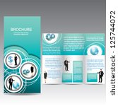 business brochure with icon | Shutterstock .eps vector #125744072