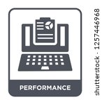 performance icon vector on... | Shutterstock .eps vector #1257446968