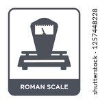 roman scale icon vector on... | Shutterstock .eps vector #1257448228
