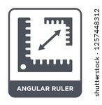 angular ruler icon vector on... | Shutterstock .eps vector #1257448312