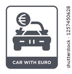 car with euro icon vector on... | Shutterstock .eps vector #1257450628
