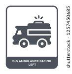 big ambulance facing left icon...   Shutterstock .eps vector #1257450685