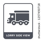 lorry side view icon vector on... | Shutterstock .eps vector #1257450718