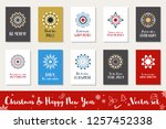 christmas and happy new year... | Shutterstock .eps vector #1257452338