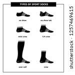 white sport sock icons. no show ... | Shutterstock .eps vector #1257469615