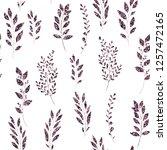 violet  glitter  floral element ... | Shutterstock .eps vector #1257472165
