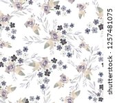 watercolor seamless pattern... | Shutterstock . vector #1257481075