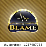 shiny badge with... | Shutterstock .eps vector #1257487795