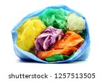 colour garbage plastic bags... | Shutterstock . vector #1257513505