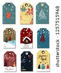 christmas tags cute collection | Shutterstock .eps vector #1257515968