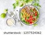 healthy and delicious bowl with ...   Shutterstock . vector #1257524362