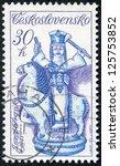 czechoslovakia   circa 1978  a... | Shutterstock . vector #125753852