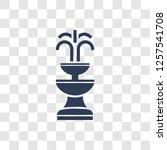 fountain icon. trendy fountain... | Shutterstock .eps vector #1257541708