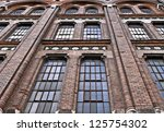 Texture of an industrial building - stock photo