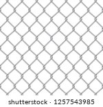 realistic fence rabitz pattern. ... | Shutterstock .eps vector #1257543985