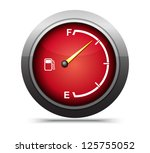 3d red gas gage on white...   Shutterstock . vector #125755052
