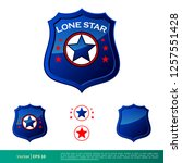 badge star police department... | Shutterstock .eps vector #1257551428