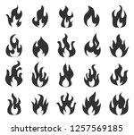 fire flames icons set  vector...   Shutterstock .eps vector #1257569185