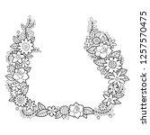 vector flower asymmetrical...   Shutterstock .eps vector #1257570475