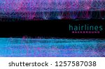 abstract hairlines background... | Shutterstock .eps vector #1257587038