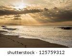 sunset on hawaii beach | Shutterstock . vector #125759312