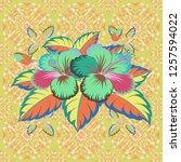 hawaiian tropical natural... | Shutterstock .eps vector #1257594022