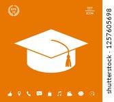master cap for graduates ...   Shutterstock .eps vector #1257605698