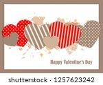 cute  postcard valentine's day...   Shutterstock .eps vector #1257623242