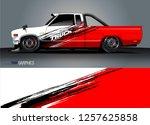 truck decal sticker wrap design ... | Shutterstock .eps vector #1257625858