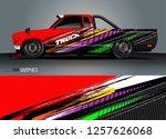 truck decal sticker wrap design ... | Shutterstock .eps vector #1257626068