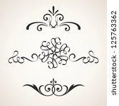 calligraphic design elements.... | Shutterstock .eps vector #125763362