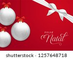 merry christmas card in... | Shutterstock .eps vector #1257648718