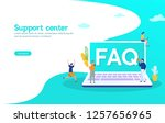 faq and q a vector ilustration... | Shutterstock .eps vector #1257656965