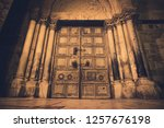 Old Wooden Door Of Entrance To...