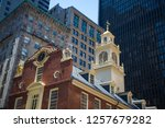 details old state house in... | Shutterstock . vector #1257679282