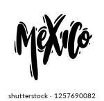 mexico hand drawn vector... | Shutterstock .eps vector #1257690082