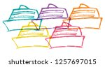 cute rainbow color set... | Shutterstock .eps vector #1257697015