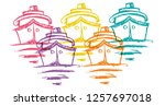 cute rainbow color set... | Shutterstock .eps vector #1257697018