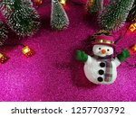 lovely snowman with christmas...   Shutterstock . vector #1257703792