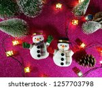 lovely snowman with christmas...   Shutterstock . vector #1257703798