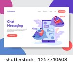 landing page template of chat...
